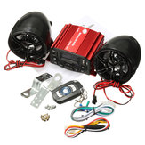 12V Audio Remote Control Sound System Motorcycle Speaker SD USB MP3