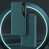 Bakeey لـ Samsung Galaxy A71 حافظة قلاب مغناطيسي ذكي ينام نافذة عرض للصدمات جلد PU غطاء كامل حافظة واقية