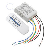 4 Kanal Wireless Wall Lamp Switch Splitter Fernbedienung Empfänger Sender