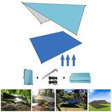 Outdoor Moisture-proof Tent Shelter 210D Oxford Fabric Ultralight Folding Awning Tarp Hammock Camping Travel Rain Sunshade Picnic Mat