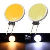 G4 2W 15COB LED Warmwhite / أبيض لمصباح الكريستال LED بقعة ضوء لمبة مصباح المصباح AC / DC12V