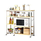 4 Layers Floor-standing Rack Storage Multifunctional Arrangement for Home Kitchen Counter