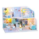 DIY baba ház kézzel készített kreatív tetőtéri ház 3d épület közgyűlés modell összeszerelés játék születésnapi ajándék
