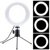 LED Ringlicht Lampe 6 Zoll dimmbares Fülllicht mit Desktop-Stativ Ständer für Youtube Tiktok Makeup Live Stream Vlog