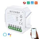 [2 unidades] BlitzWolf® BW-SS7 Zi-Bee3.0 2300W Módulo de interruptor de luz inteligente 2 Gang Wireless App Controle Remoto Controle de voz Horário Funciona com Amazon Alexa e Google Assistant