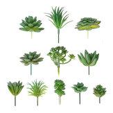 11個/セット人工の多肉植物の花の花植物の家の庭DIYの風景の装飾