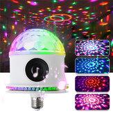 E27 RGB LED Bluetooth Speaker Bulb Crystal Ball Disco DJ KTV Stage Light Lamp AC85-265V