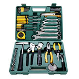 CREST 49Pcs Kit d'outils de réparation de machine multifonction avec boîte à outils en plastique