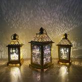 Рамадан Лампа Ид на заказ Железный Ветер Фонарь Ремесла Арабский Фонарь Освещение Кабинета