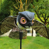 KCASA Realistic Bird-X Prowler Owl Scarecrow Bird Proof Repellent Decoy Pest Control Orchard Bird With Moving Wings