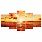 5Pcs Sunset Wanddekorationsbilder Leinwanddruck Kunstbilder Rahmenlose Wandbehangdekorationen für das Home Office