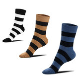 Homens Listra Penteado Cotton Short Athletic Socks