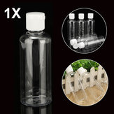 100ml Clear Plastic Bottles For Travel Cosmetic Lotion Container with White Caps