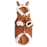 Pet Perro Cachorro de Navidad precioso suéter de venado Capucha Mono Escudo de ropa Outwear abrigos