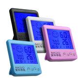 Digital Desktop Thermo-hygrometer Alarm Clock LCD Screen Temperature Humidity