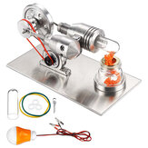 STEM Stainless Mini Hot Air Stirling Engine Motor Model Kit Toy Pendidikan