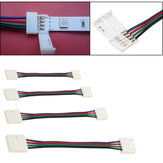 10/30/50/100CM 10MM 4 Pin RGB Connector Cable Wire Extension Cord For SMD5050 LED Strip Light