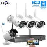 Hiseeu 8CH Wireless CCTV System 1536P NVR Wifi Outdoor 3MP AI IP Camera Security System Video Surveillance Monitor Kit