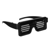 DJ LED Glasses 3 Modes USB Rechargeable Light Up Glow Flashing Sunglasses