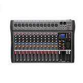 Professional 12 Channels Live Studio Audio Mixer Amplifier USB Mixing Bluetooth