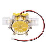 Yellow Translucent 12V/10W DC Water Flow Pump Generator Turbine Generator Hydroelectric Micro Hydro Generator Tap Water Flow Hydraulic DIY