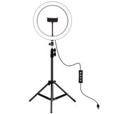 PULUZ PKT3056B 11.8 inch 30cm 3 Modes Dimmable LED Ring Light for Youtube Vlogging Video Broadcast Live with 110cm Tripod Mount