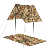 3 in 1 Multifunctional Outdoor Poncho Raincoat Waterproof Picnic Mat Tent Sunshade Camping Hiking