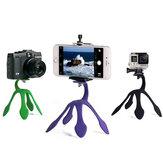 Mini Tripod Taşınabilir Taşınabilir Esnek Stand Holder iPhone için Akıllı Telefon Gopro Sjcam Xiaomi Yi