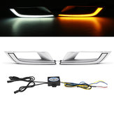 2 Unids LED DRL Luces de Circulación Diurna Lámpara de Doble Color para Ford Ranger Wildtrak T6 MK2 2016-2018 ET