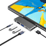 Bakeey 5-in-1 USB-C HUB Docking Station Adapter con 4K @ 30Hz HDMI / PD 60W Power Delivery / USB3.0 5Gbps Data Transmission / USB2.0 5Gbps Data Transmission / 3.5mm Audio Jack