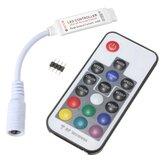17 teclas dc wireless LED controle remoto 5v-24v rf para SMD 3528 5050 rgb LED faixa de luz