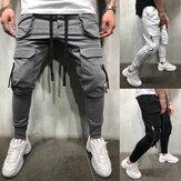 Erkekler Pantolon Moda Jogger Pantolon Erkekler Fitnes Spor Salonları Pantolon Koşucular için Giyim Sonbahar Eşofman Altı