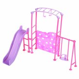 Slide Swing Set Acessórios Dollhouse Doll Furniture