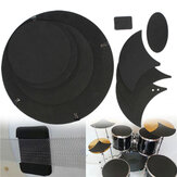 10Pcs Bass Snare Drum Sound off  Mute Silencer Drumming Rubber Practice Pad Set