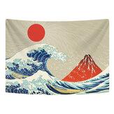 Настенный гобелен из полиэстера с большой волной крепление Fuji Mountain Шаблон гобелен для спальни, спальни, гостиной, украшения