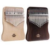 17 teclas Kalimba dedo mão piano mogno polegar piano madeira instrumento instrumento musical