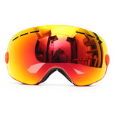 Snowboard Anti-fog Ski Goggles Two Layers Lens Spherical UV Protection Moto