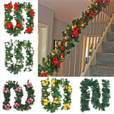 2.7m Christmas Tree Wreath Door Hanging Garland Window Ornament Xmas Party Decor Christmas Decorations Clearance Christmas Lights