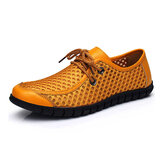 Mannen Ademend Mesh Casual Lace Up Oxford