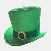 День Святого Патрика Лепрекон Зеленый атласный топ Шапка