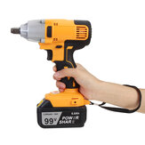 12000mAh 320Nm Electric Powerful Cordless Impact Wrench LED Light Torque Drill Machine