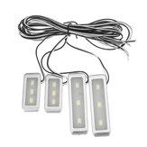 4 Uds 3 LED Universal Coche Reposabrazos Luz interior del cuenco Luz decorativa fresca de la manija de la puerta Coche Accesorios de luz interior para automóviles