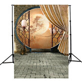 T079 3x5ft Classical Courtyard Moonlight Photography Background Cloth Studio Photo Backdrop