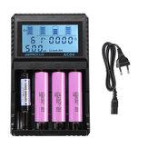 Astrolux® AC04 LCD Display 1.5A AC / DC Carregador rápido Li-ion Ni-MH Bateria Carregador atual Carregador opcional para 18650 26650 21700 AA AAA Bateria