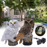 Solar Powered Owl Lampa ogrodowa LED Garden Decor Waterproof Landscape Light