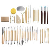 45PCS Clay Pottery Shaper Carving Blade Modelling Ceramic Sculpture Tools Kit