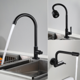 5 Type Brass Kitchen Sink Faucet Single Handle Single Cold Water Tap Wall Mount/Deck Mount 360° Rotate Flexible Spout Faucet
