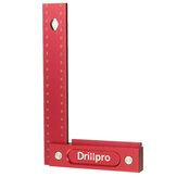 Drillpro 150/200mm Métrique Précision Travail Du Bois Carré En Alliage D'aluminium Siège Large Outil De Gravure L Règle À Angle Droit 90 °