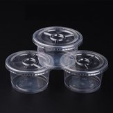10Pcs Liquid Containers Case Takeaway Take Away Plastic Round for Lab Sauce