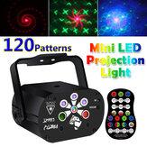 3 IN 1 Dönebilen Lazer Projektör LED Sahne Işığı Sesle etkinleştirilen USB Şarj Edilebilir DJ Disco KTV Party Lamba